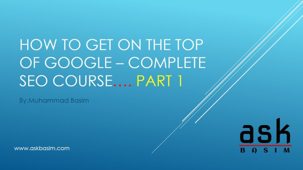 SEO Course- Part-1-Slide1