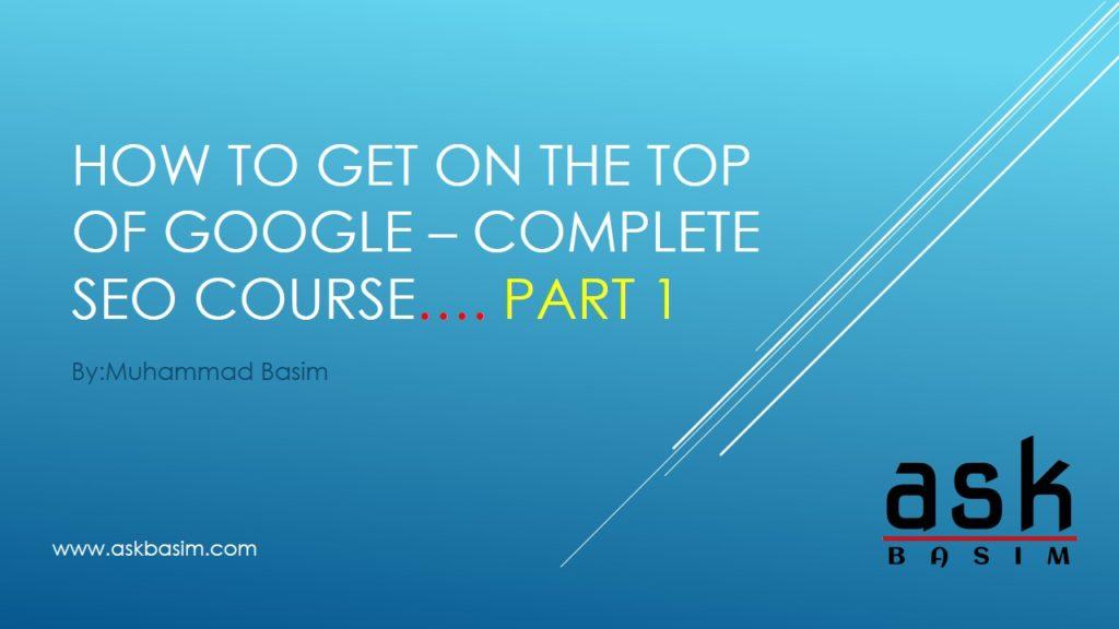 SEO Course- Part-1-Slide1