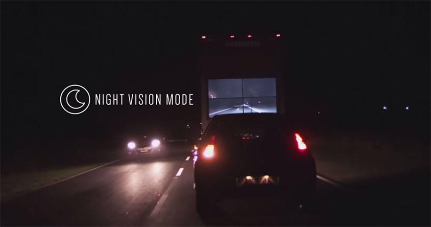 Samsung Safety Truck Night Vision Mode