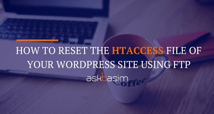 Reset .htaccess File