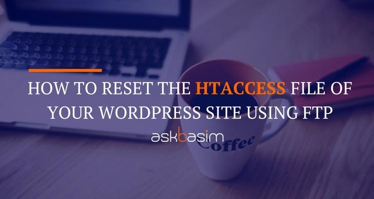 Reset .htaccess File