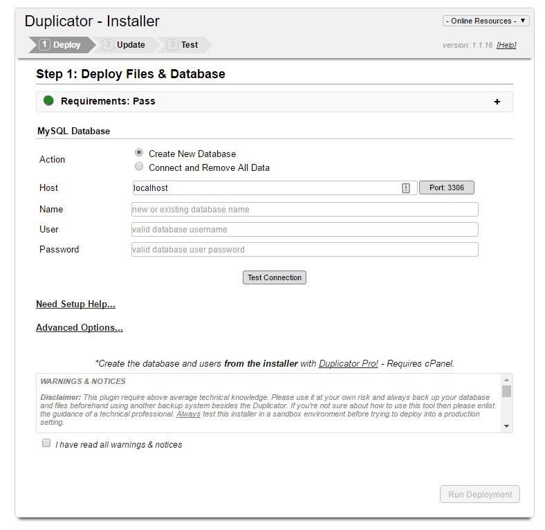 duplicator installer