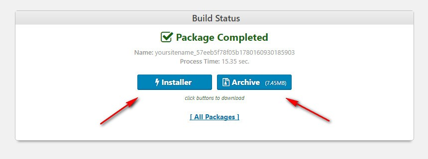 Duplicator Package Files